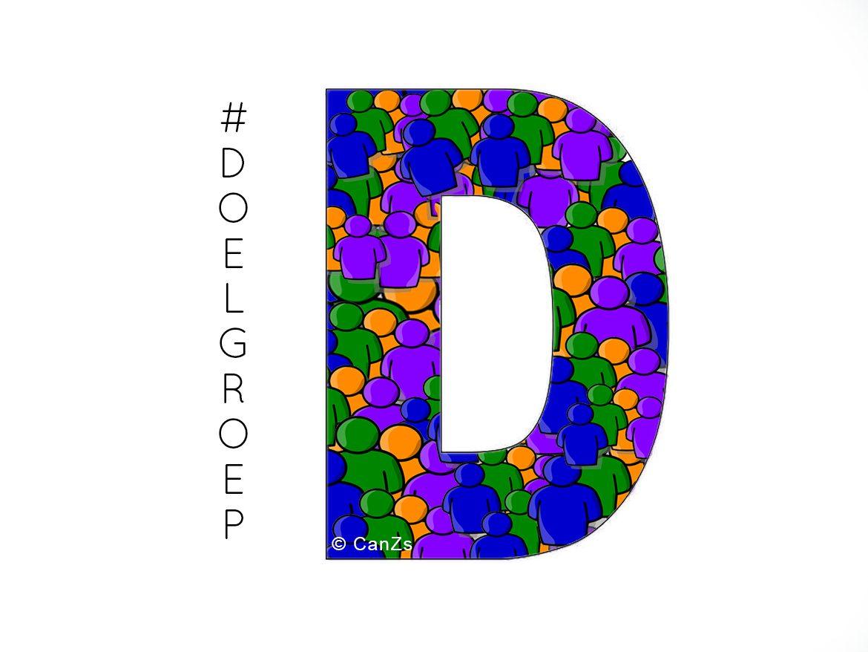 De letter D van Doelgroep