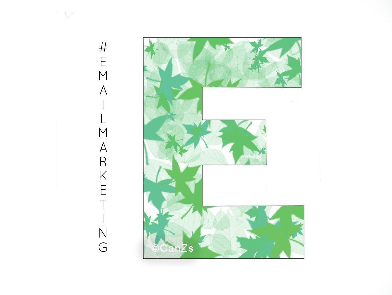 De letter E van E-mailmarketing